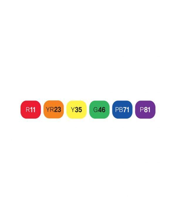 Touch 6er Set Grundfarben